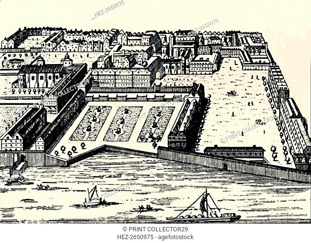 'The Temple from the Thames', c1650, (1903). Artist: Unknown