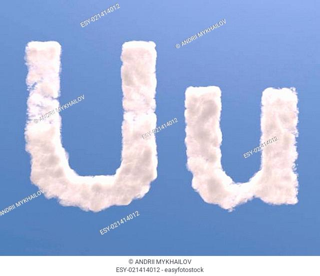 Letter U cloud shape