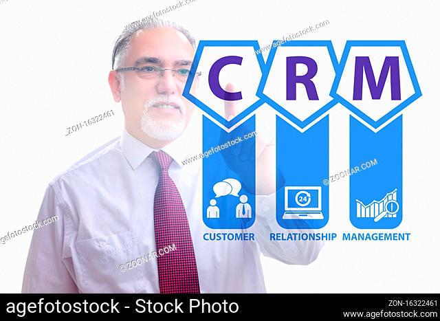 CRM custromer relationship management concept with the businessman
