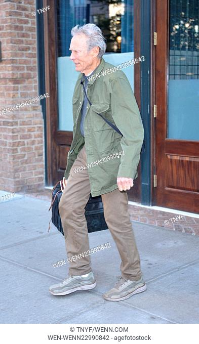 Clint Eastwood leaving his hotel Featuring: Clint Eastwood Where: Manhattan, New York, United States When: 07 Oct 2015 Credit: TNYF/WENN.com