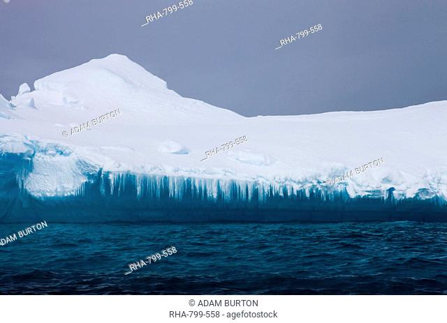Melting facade of an iceberg, Antarctic Peninsula, Antarctica, Polar Regions