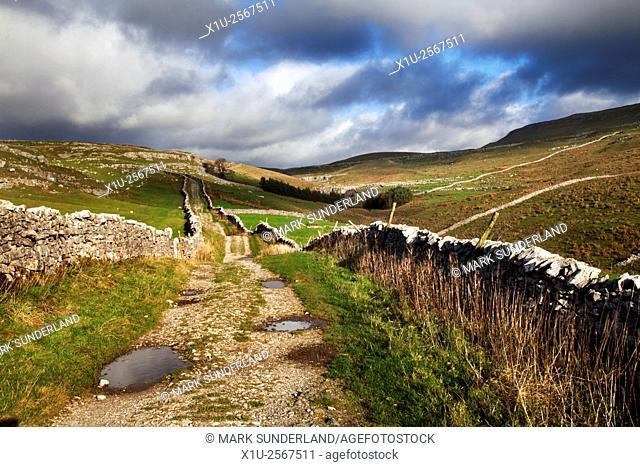 Horton Scar Lane near Horton in Ribblesdale North Yorkshire England