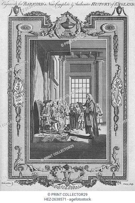 'The Bill of Rights ratified at the Revolution by King William, and Queen Mary previous to their Cor Artist: John Cary