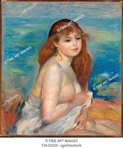After the Bath by Renoir, Pierre Auguste (1841-1919)/Oil on canvas/Impressionism/1885-1887/France/National Museum of Art, Oslo/60x54/Genre