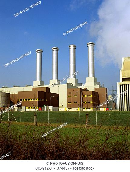 Combined cylcle gas-fired power station, Killingholme, Humberside, owned by Powergen