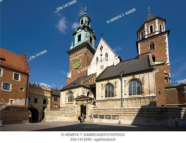Poland, Krakow, Cathedral at Wawel Royal Castle