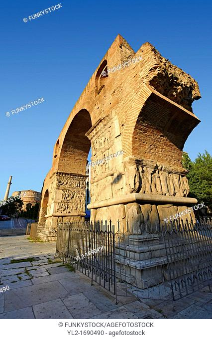 The 4th-century Arch of Roman Tetrach Emperor Galerius, clebrating his victory of the Sassanid Persians  Thessalonica, Greece