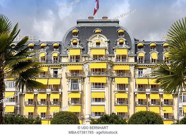 Five-star luxury hotel Grandhotel 'Montreux Palace', Montreux, Lake Geneva, Canton of Vaud, Western Switzerland, Switzerland