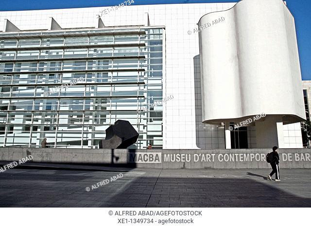 MACBA museum, 1995, architect: Richard Meier, Barcelona, Catalonia, Spain