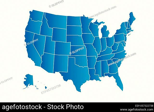 Vector blue USA map logo icon image