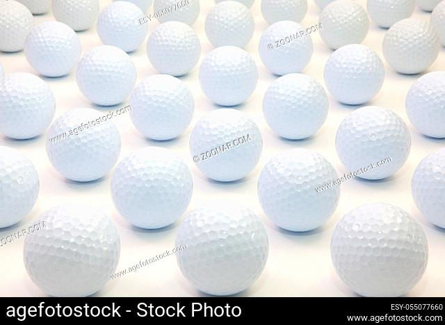 Pattern with white golf balls on the table