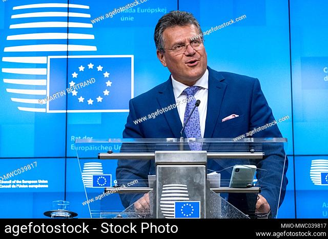Maros Sefcovic (Vice President), Interinstitutional Relations and Foresight of the European Union at the EU ministers of European Affairs informal video...