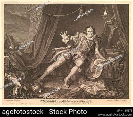 Mr. Garrick in the Character of Richard III. Artist and engraver: William Hogarth (British, London 1697-1764 London); Engraver: Charles Grignion, I (British