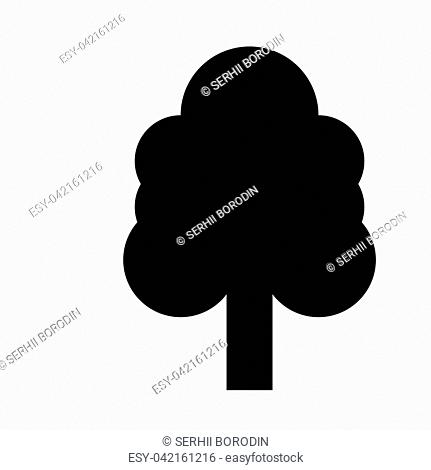 Tree it is black icon . Flat style
