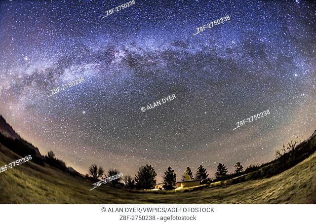 The arch of the Milky Way in the northern autumn and early winter sky, from Arizona on December 5, 2015. The Milky Way extends from Aquila to the left