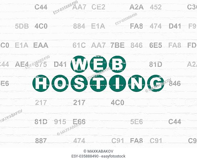 Web design concept: Web Hosting on wall background