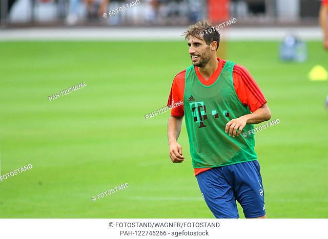 Muenchen, Germany 28. July 2019: 1. BL - 19/20 - Bayern Munich Training 28.07.2019 Javi Martinez (Bayern Munich) action. Single picture