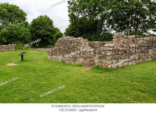Cumbria, England, UK. Banks East Turret, Hadrian's Wall