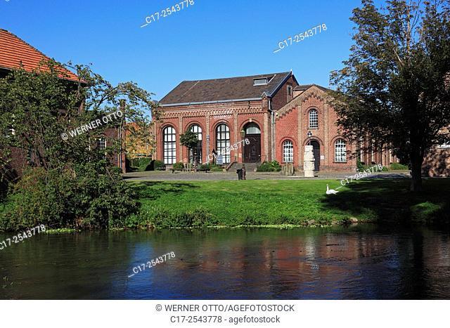 Germany, Grevenbroich, Erft, Lower Rhine, Rhineland, North Rhine-Westphalia, NRW, city park, city park island, Erckens island