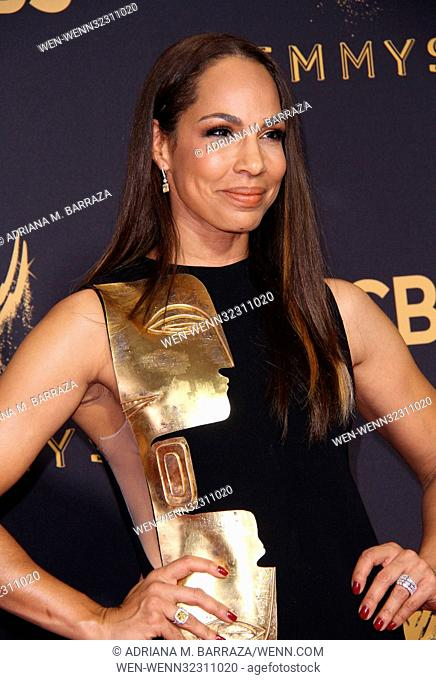 69th Emmy Awards held at the Microsoft Theatre L.A. LIVE - Arrivals Featuring: Amanda Brugel Where: Los Angeles, California