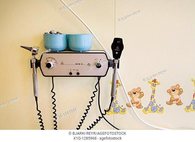 Otoscope and Ophthalmoscope at a children's doctors office