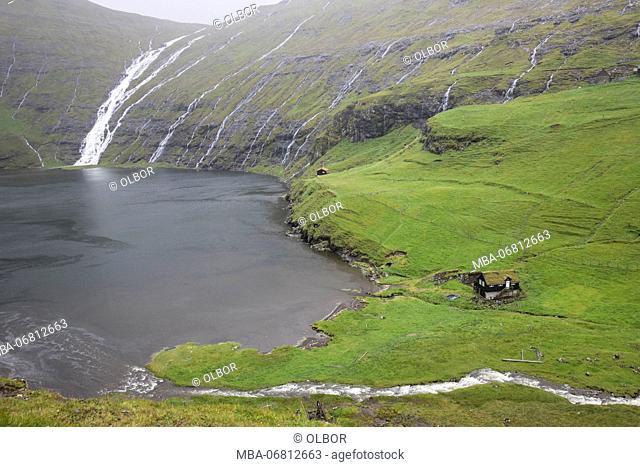 Faroes, Streymoy, Saksun, scenery