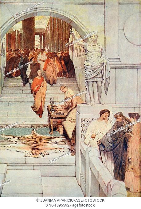 An Audience at Agrippa's (1876) by Sir Lawrence Alma-Tadema