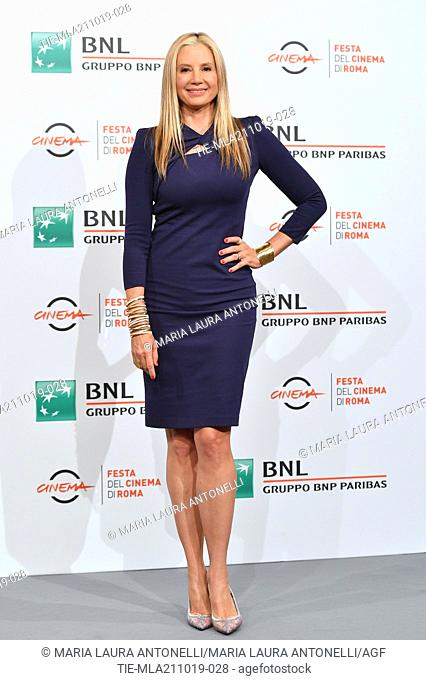 Mira Sorvino poses during the photocall for 'Drowing' at the 14th annual Rome Film Festival, in Rome, ITALY-20-10-2019