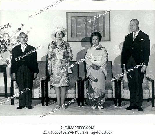 1974 - Emperor welcomes Kiesinger; West German Chancellor Kurt Georg Kiesinger and his wife are received by the Emperor and Empress of Japan at the Imperial...
