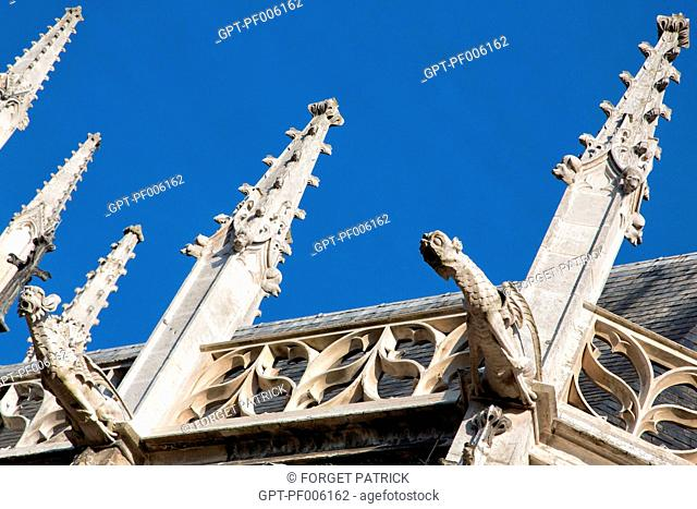 GARGOYLE ON THE SOUTH FACADE, NOTRE-DAME CATHEDRAL, EVREUX (27), FRANCE
