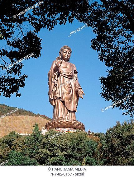 the Great Buddha in Mount Ling,Wuxi city,Jiangsu Province,China