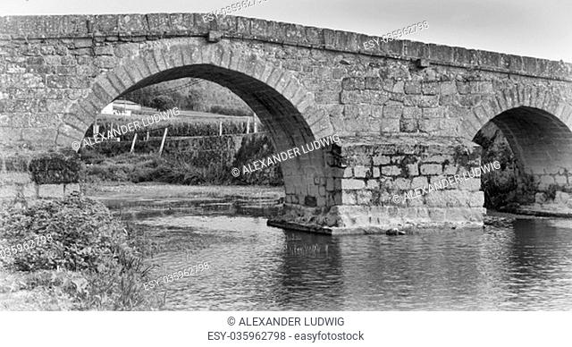 Roman bridge of Arcos, sights along the Camino de Santiago trail, Portugal