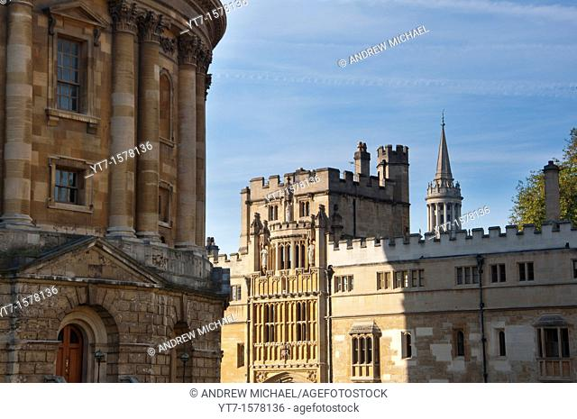 Radcliffe Camera with Exeter College, Oxford  UK