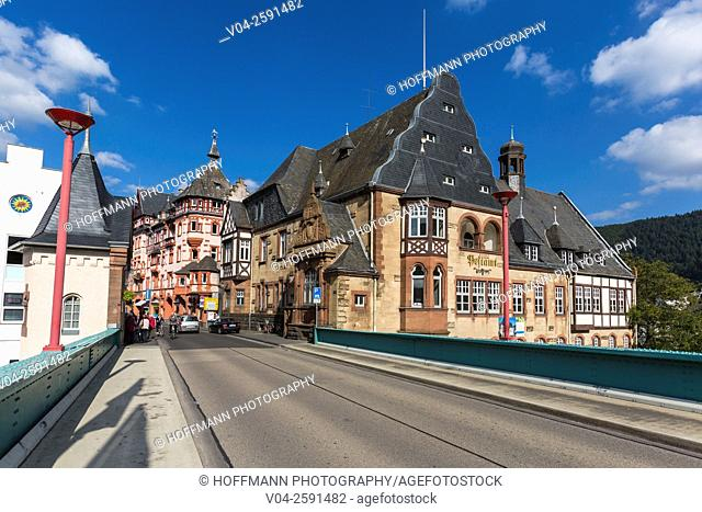 Picturesque timbered houses in the beautiful village of Traben-Trabach, Rhineland-Palatinate, Germany, Europe