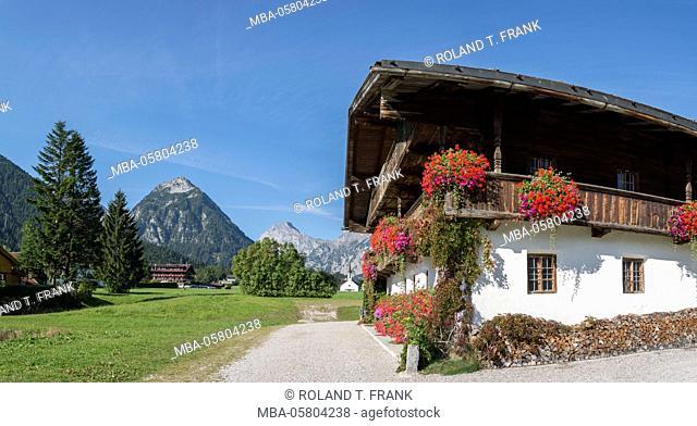 Europe, Austria, Pertisau, farm in the village