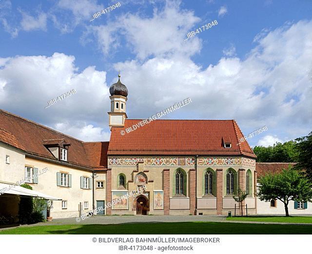 Holy Trinity castle chapel, Blutenburg Castle, Munich, Upper Bavaria, Bavaria, Germany