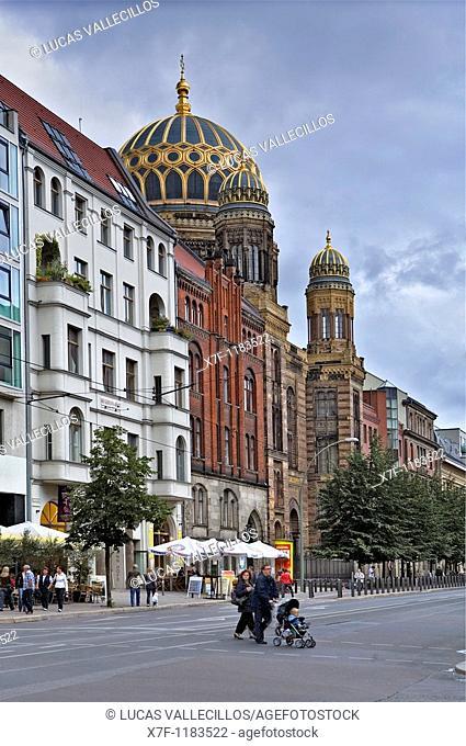 Jewish Center or new synagogue Oranienburger strabe Berlin  Germany