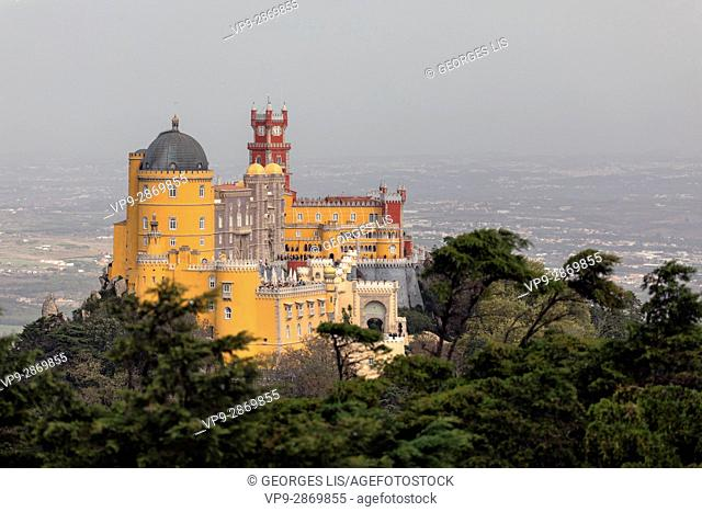 Pena Castle palace colours Sintra Portugal