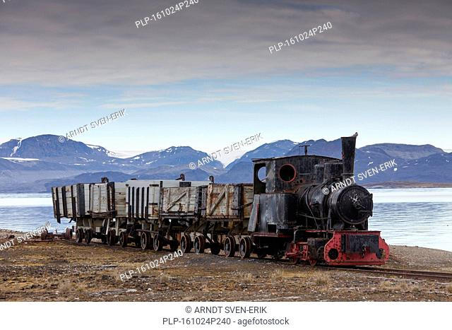 Old mining train at Ny Alesund / Ny-Ålesund, Svalbard / Spitsbergen