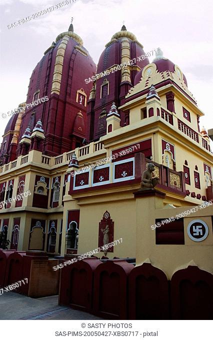 Low angle view of a temple, Lakshmi Narayan Temple, New Delhi, India