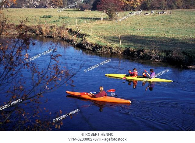 DURBUYARDENNE - BELGIUMKAYAKS ON THE RIVER OURTHE