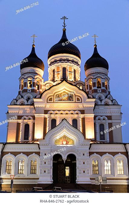 Orthodox Cathedral of Alexander Nevsky, Toompea (Castle Hill), Old Town, UNESCO World Heritage Site, Tallinn, Estonia, Europe