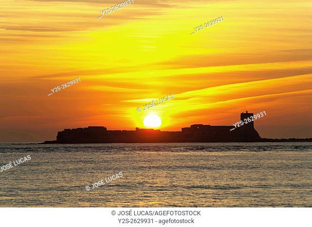 Castle and island of Sancti Petri, San Fernando, Cadiz province, Region of Andalusia, Spain, Europe