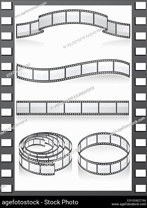 set filmstripe icons vector illustration