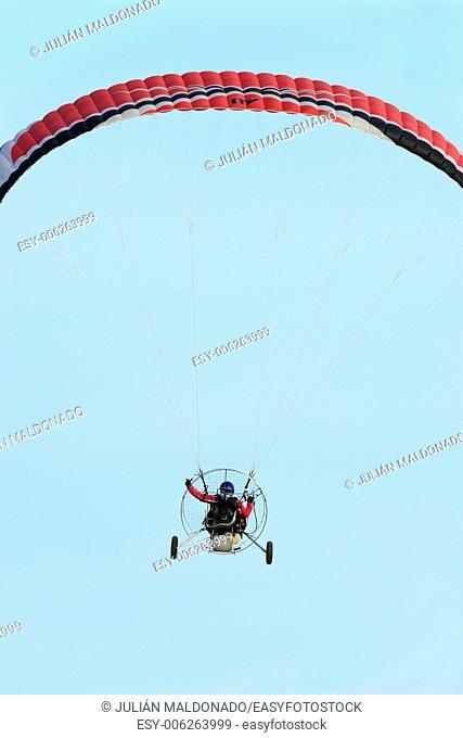 Concentration Paramotor flight in Ciudad Real, Spain