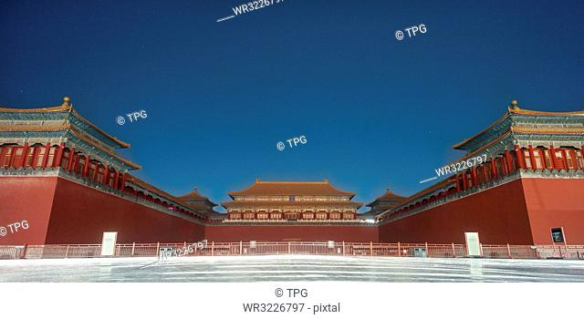 the meridian gate of the forbidden city;Beijing;China