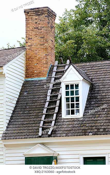 Detail of colonial architecture in Williamsburg, Virginia