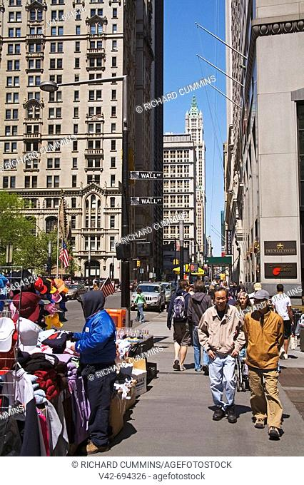 Broadway Avenue in Lower Manhattan, New York City, New York, USA