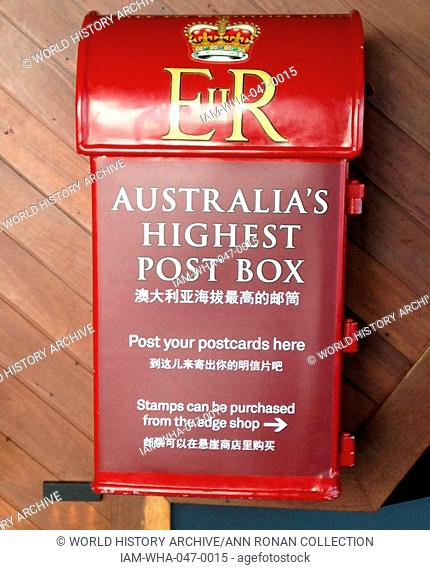 Melbourne, postbox in the Eureka Tower