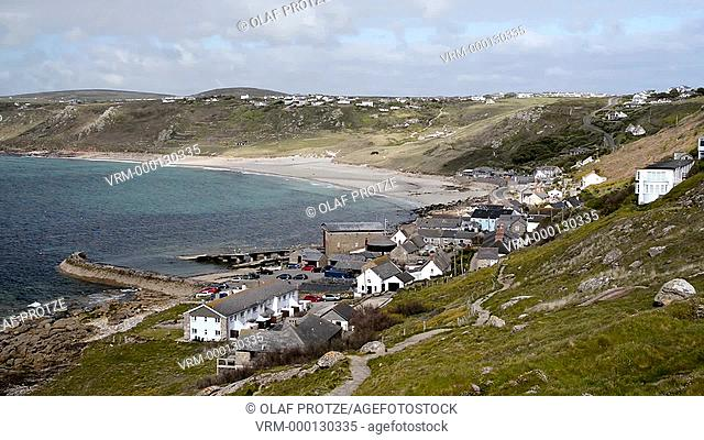 View over Sennen Cove near Lands End, Cornwall, England, UK
